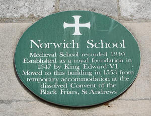 Norwich School Plaque