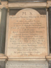 Browne's Tomb in St Peter Mancroft Church