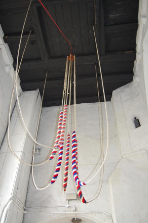 Bell Ropes Inside Upwell Church